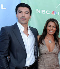 Ian Anthony Dale and Lisa Vidal at the NBC Universal's 2010 TCA Summer party in California.
