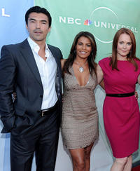 Ian Anthony Dale, Lisa Vidal and Laura Innes at the NBC Universal's 2010 TCA Summer party in California.