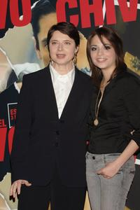 Isabella Rossellini and Stephanie Leonidas at the Italian photocall of