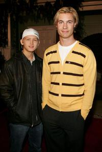 Evan Ellingson and Erik Von Detten at the ABC's Winter Press Tour Party.