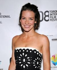 Evangeline Lilly at the premiere of