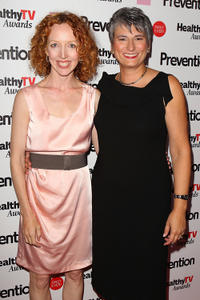 Darlene Hunt and Diane Salvatore at the Prevention Healthy TV Awards in California.
