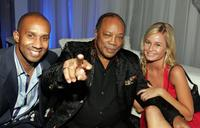 Alex Avant, Quincy Jones and Amber Hay at the Victoria's Secret Fashion Show after party.