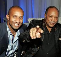 Alex Avant and Quincy Jones at the Victoria's Secret Fashion Show after party.