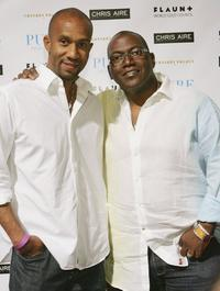 Alex Avant and Randy Jackson at the Pure Nightclub.