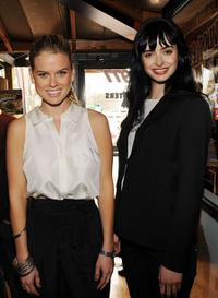 Alice Eve and Krysten Ritter at the Hooters in Atlanta, Georgia.