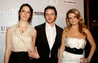 Rebecca Hall, James McAvoy and Alice Eve at the premiere of