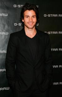 Santiago Cabrera at the dinner party of