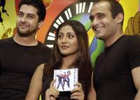 Aftab Shivdasani, Rimi Sen and Akshay Khanna at the music launch of