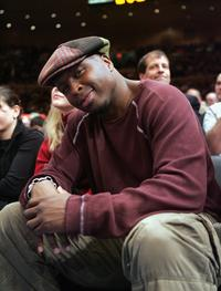 Steve Harris at the New York Knicks vs Boston Celtics game.