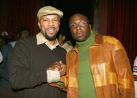 Common and Steve Harris at the private birthday celebration for singer Rashid Lonnie Lynn.