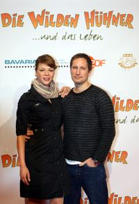 Jessica Schwarz and Benno Fuermann at the premiere of