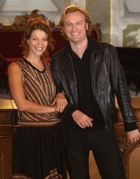 Jessica Schwarz and Mark Waschke at the photocall of