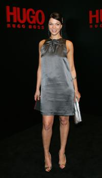 Jessica Schwarz at the Hugo Boss fashion show during the Mercedes-Benz Fashionweek Berlin autumn/winter 2008.