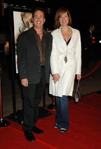 Steven Rogers and actress Allison Janney at the premiere of
