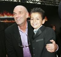 Martin Campbell and Adrian Alonso at the premiere of