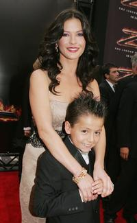 Catherine Zeta-Jones and Adrian Alonso at the premiere of