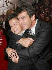 Adrian Alonso and Antonio Banderas at the premiere of
