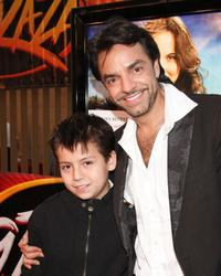 Adrian Alonso and Eugenio Derbez at the screening of