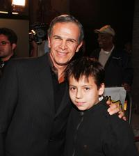 Tony Plana and Adrian Alonso at the screening of