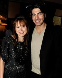 Alison Pill and Brandon Routh at the California premiere of
