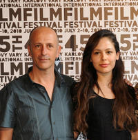 Director August Vila and Martina Garcia at the press conference of