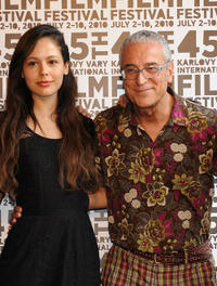 Martina Garcia and producer Luis Minarro at the press conference of