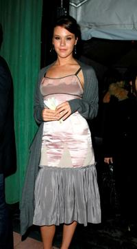 Joss Stone at the after party of BCBG fashion show during the Mercedes-Benz Fashion week Fall 2008.