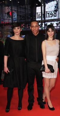 Marija Skaricic, Jeremias Acheampong and Maryam Zaree at the premiere of