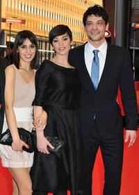 Jeremias Acheampong, Marija Skaricic and Carlo Ljubek at the premiere of