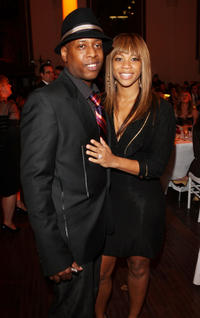 Talib Kweli and Guest at the Art Of Elysium's 2nd Annual Black Tie Gala in California.