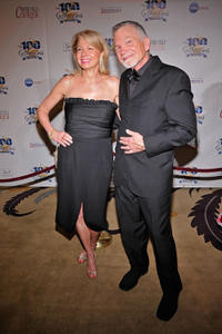David Leisure and guest at the Norby Walters 22nd Annual Night of 100 Stars Oscar Viewing Gala.
