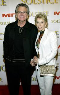 David Leisure and his wife at the Solstice Spring 2003 Fashion party.