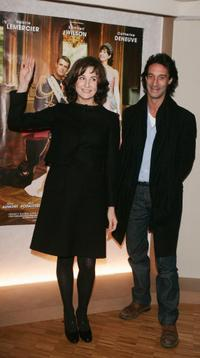 Valerie Lemercier and Producer Edouard Veil at the Dinard British Film Festival.