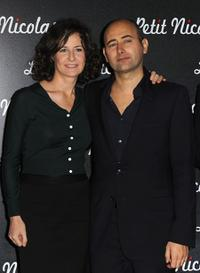 Valerie Lemercier and Laurent Tirard at the Paris premiere of