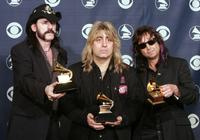 Lemmy, Mikkey Dee and Phil Campbell at the 47th Annual Grammy Awards.