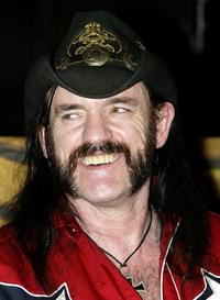 Lemmy at the bands induction into Hollywood's RockWalk.