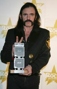 Lemmy at the Classic Rock Roll Of Honour Awards.