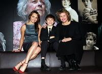 Sharon Millerchip, Rhys Kosakowski and Genevieve Lemon at the nominations for the 2008 Helpmann Awards.