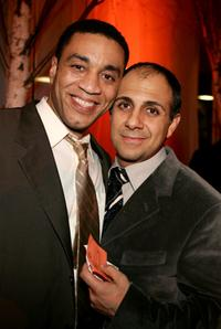 Harry J. Lennix and Anthony Azizi at the 32nd Annual People's Choice Awards.