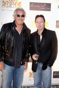 Flavio Briatore and Julian Lennon at the Better World Awards dinner party.