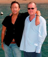 Julian Lennon and Director Kim Kindersley at the photocall of