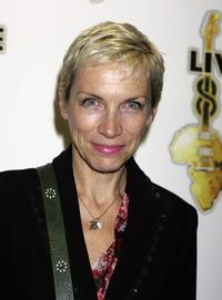 Annie Lennox at the global premiere of Live 8 DVD.