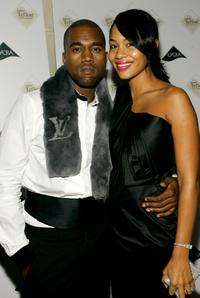 Kanye West and Alexis at the after party of Zac Posen Spring 2007 during the Olympus Fashion week.