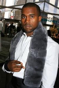 Kanye West at the Olympus Fashion week.