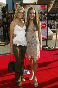 Carly Reeves and Lauren C. Mayhew at the red carpet of the California premiere of