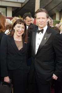 Marianne Leone and Chris Cooper at the 76th Annual Academy Awards.