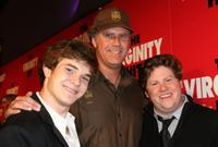 Jacob Davich, Will Ferrell and Zack Pearlman at the screening of