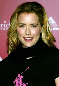 Tea Leoni at the Frederick's of Hollywood Fall 2003 fashion show and auction.