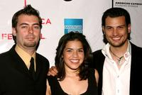 Director Antonio Negret, America Ferrera and Roberto Urbina at the premiere of